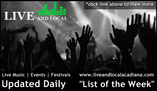 """List of the Week"" From June 25, 2014 – July 2, 2014 from Live And Local"