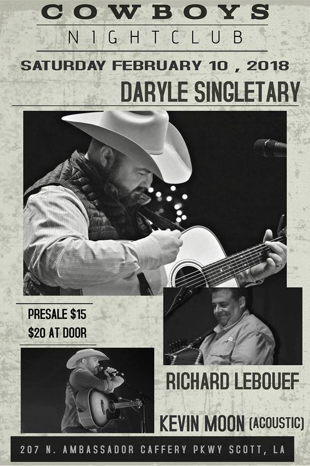 Get Ready For An Acoustic Show w/ Daryle Singletary & Kevin Moon & Richard LeBouef & Two Step All Night Long…